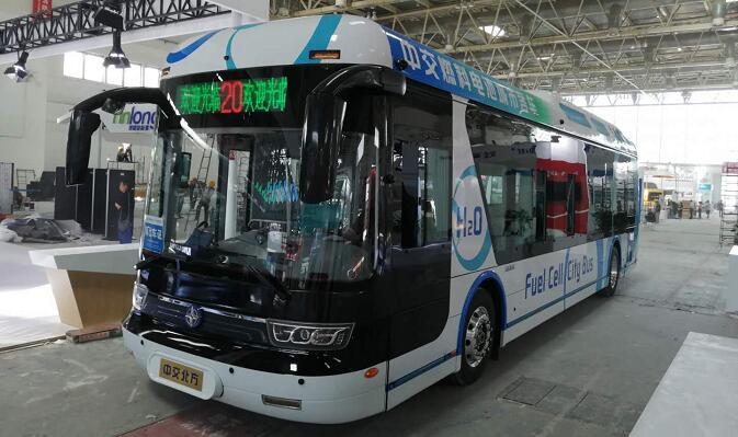 中交燃料电池客车亮相2019北京道路运输车辆展