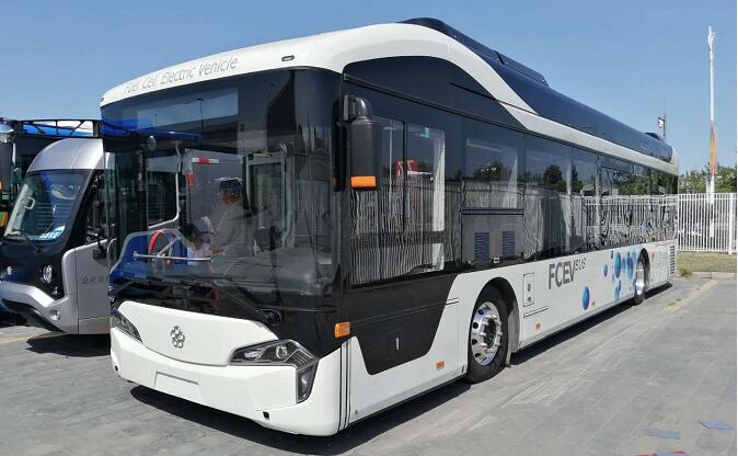 珠海银隆燃料电池客车亮相2019北京道路运输车辆展