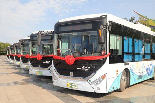 潍柴氢燃料电池公交车正式运营  助力潍坊创建氢能示范城市
