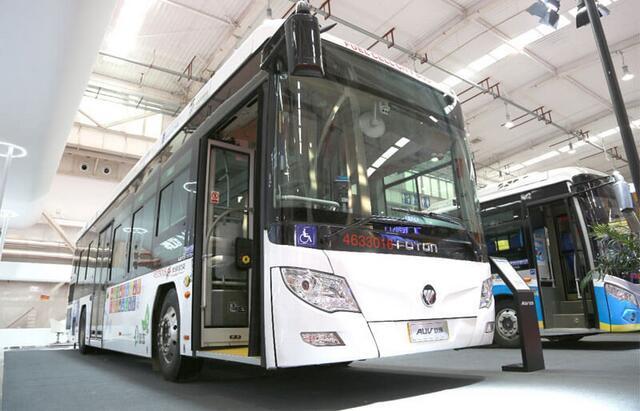 福田欧辉BJ6123氢燃料电池客车亮相2019北京公共交通展览会