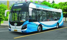 申沃12米氢燃料电池客车亮相青岛国际院士港成果展示研讨会