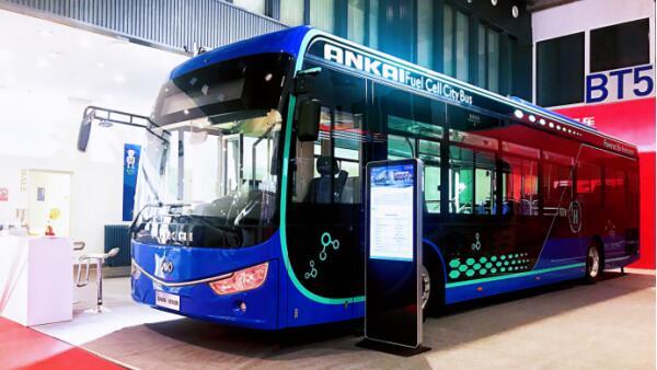 安凯氢燃料电池客车亮相2019北京公共交通装备展 续航500km