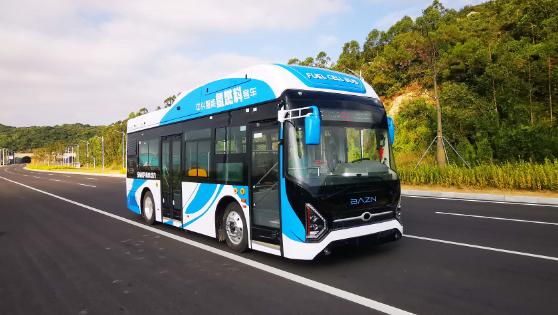 中兴氢燃料电池客车亮相珠海 续驶里程480公里
