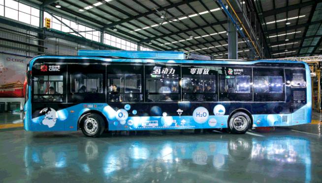 中国中车&国家电投联合开发氢燃料电池客车下线 续航600KM