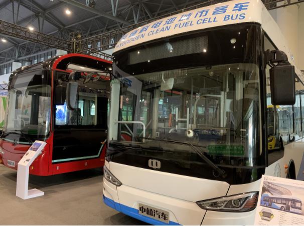 中植|银隆|比亚迪蜀都氢燃料客车亮相2020成都国际新能源车展