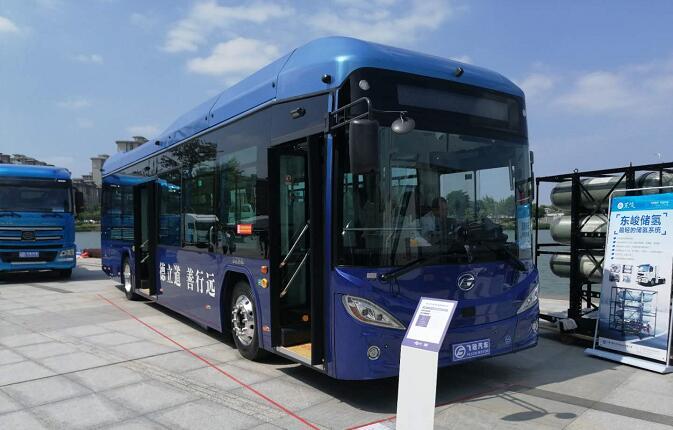 飞驰氢燃料电池客车亮相2020佛山氢能展 等速续航大于600KM