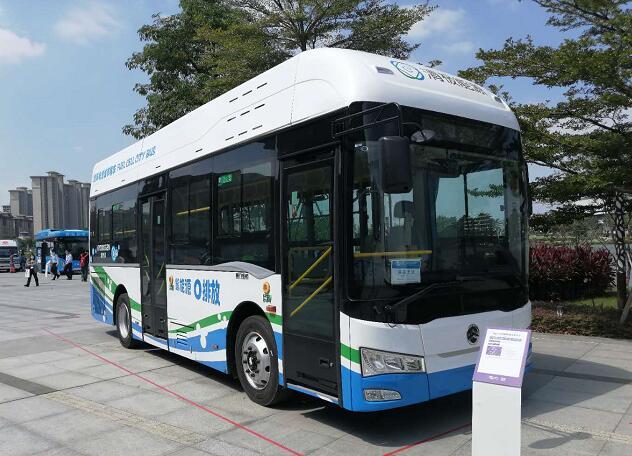 金旅氢燃料电池客车亮相2020佛山氢能展 综合续航700公里