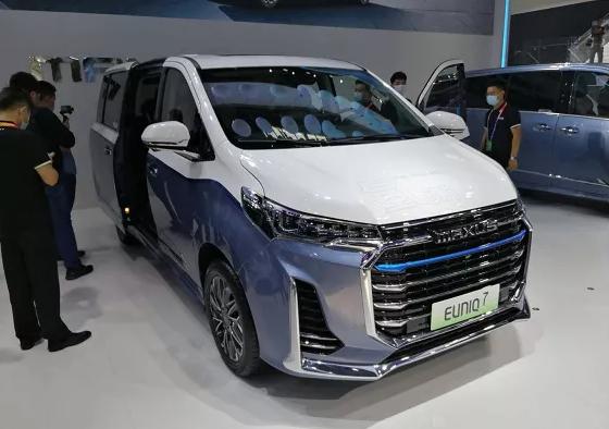上汽氢燃料电池汽车EUNIQ7亮相2020广州车展  续航605公里