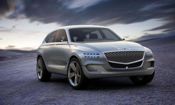 韩国捷尼赛思氢燃料电池汽车GV80 Concept SUV将亮相进博会