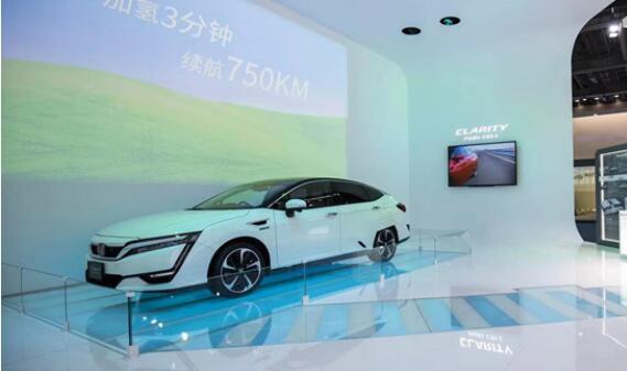 本田氢燃料电池汽车Clarity Fuel Cell亮相进博会 续航750公里