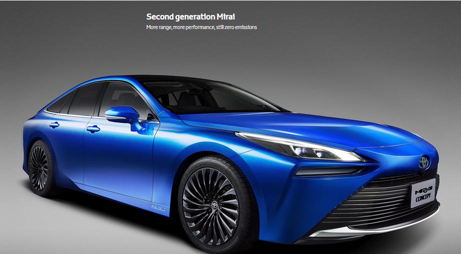 新一代丰田氢燃料电池汽车Mirai亮相荷兰 加氢5分钟|续航644KM