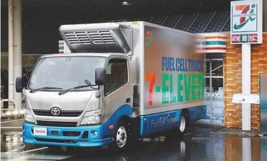 丰田氢燃料电池卡车成为日本7-11便利店的专用氢能源物流卡车