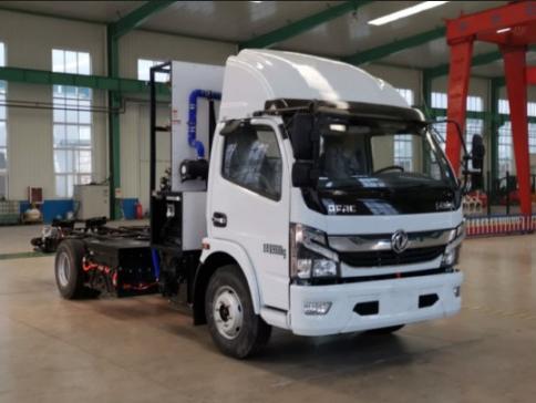 东风氢燃料电池卡车底盘搭载嘉兴德燃动力质子交换膜燃料电池