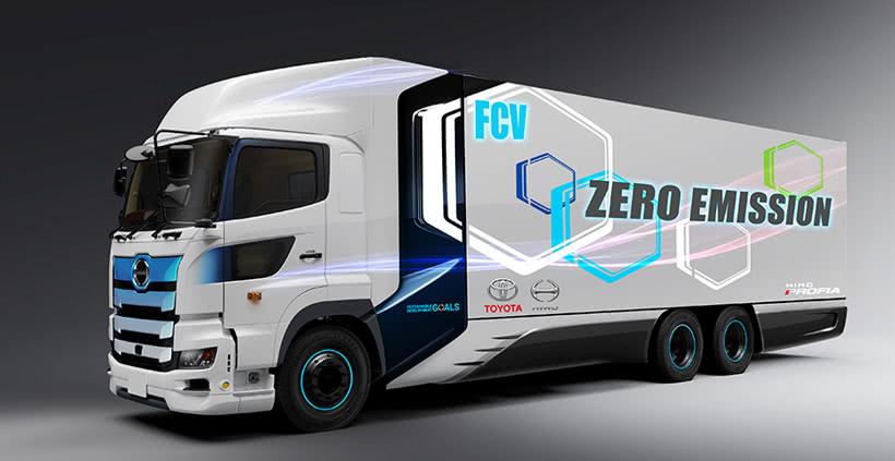 丰田和日野将合作研发氢燃料电池重卡车 续航里程约600公里