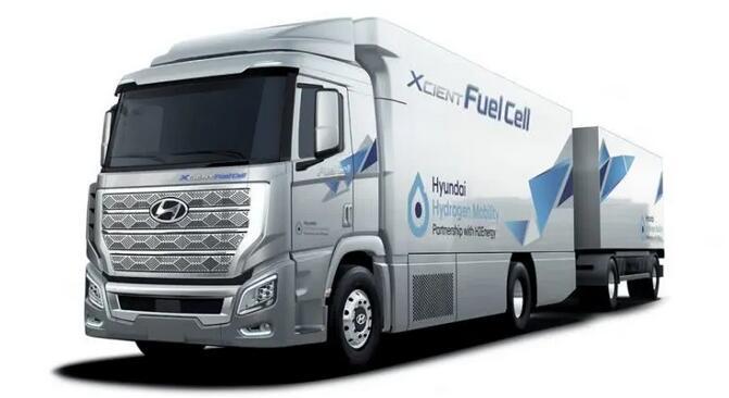 10辆现代氢燃料电池卡车出口瑞士 续航400公里|含拖车重40吨