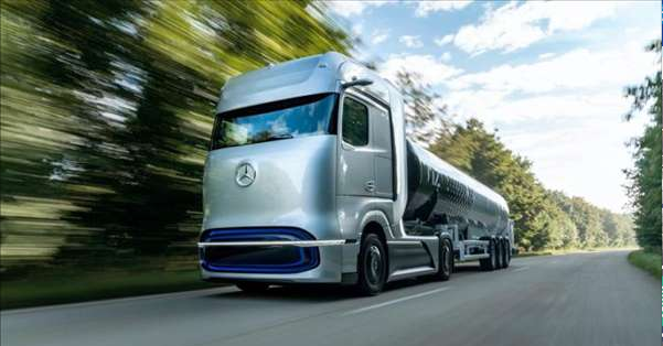 奔驰氢燃料电池概念卡车发布 续航里程超过1000公里|载重25吨