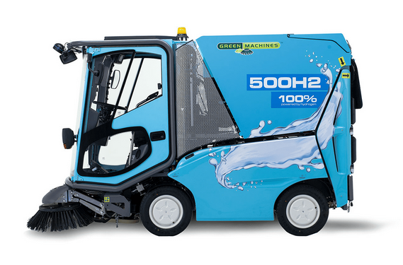 绿色机器公司推出氢燃料电池环卫车 时速25公里|几分钟加满氢