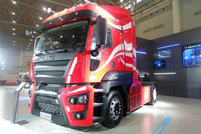 江铃氢燃料电池重卡亮相2019中国国际商用车展 续航400KM