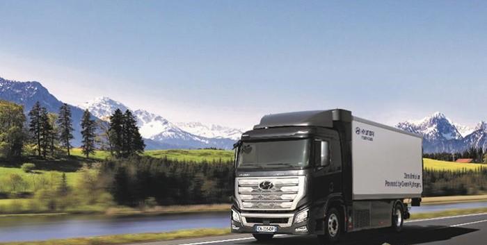 现代氢燃料电池物流卡车将2023年前在韩国投产 续航320公里