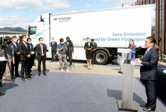 韩国启动氢燃料电池卡车供应试点