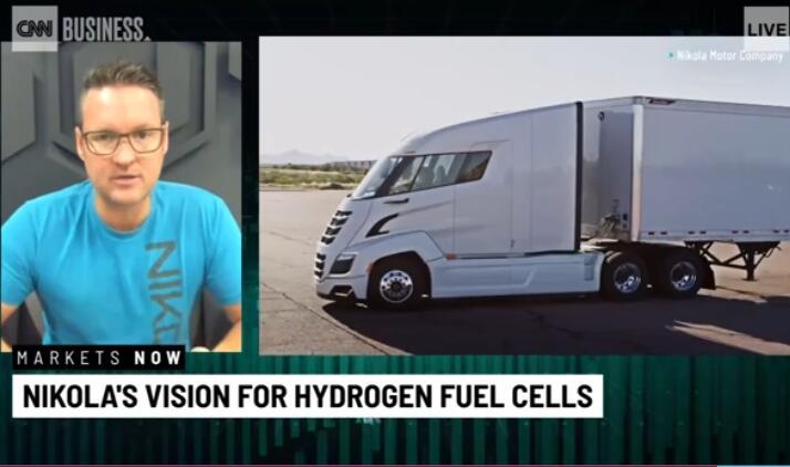 尼古拉CEO接受CNN专访:氢燃料电池卡车对长途运输很重要
