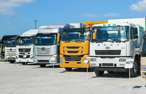 华菱氢燃料电池重卡车/华菱氢燃料电池渣土车亮相重塑常熟基地