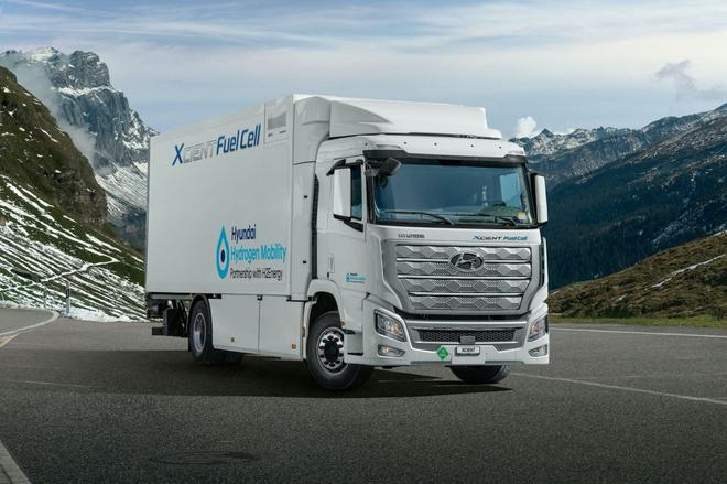 现代氢燃料电池卡车Xcient成功交付 2022年进军中国市场
