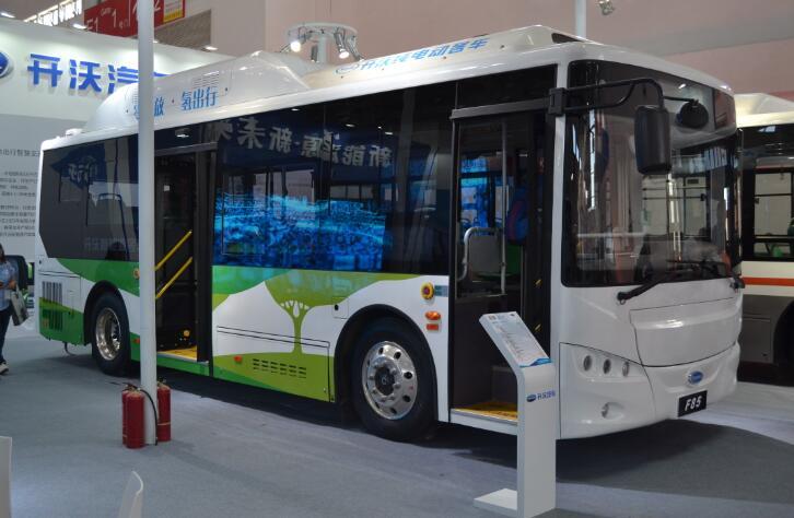 10.5米开沃氢燃料客车投运广州首条氢燃料电池公交车示范线