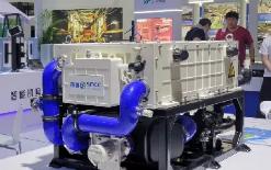 深圳国氢新能源旗下80kW氢燃料电池动力系统HG80亮相天津